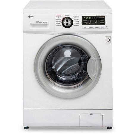 lg f1496ad1 direct drive 8kg wash 4kg dry 1400rpm freestanding washer dryer white appliances. Black Bedroom Furniture Sets. Home Design Ideas