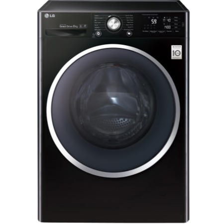 lg f14u2tcn8 direct drive 8kg 1400rpm freestanding washing machine black appliances direct. Black Bedroom Furniture Sets. Home Design Ideas