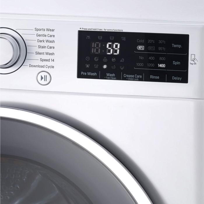 lg f14u2tdn0 8kg 1400rpm 6motion direct drive freestanding washing machine white appliances direct. Black Bedroom Furniture Sets. Home Design Ideas
