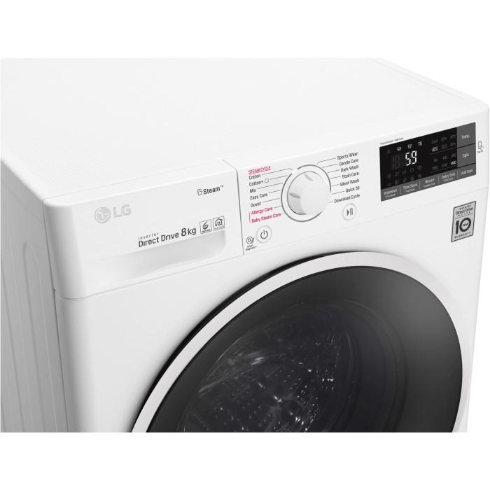 Lg f4j6ty0ww direct drive freestanding washing machine 8kg 1400rpm lg f4j6ty0ww direct drive freestanding washing machine 8kg 1400rpm white buycottarizona Images