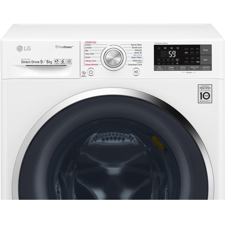 LG F4J8FH2W Smart ThinQ 9kg Wash 6kg Dry 1400rpm Freestanding Washer Dryer  - White
