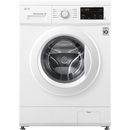 LG F4MT08WE 6 Motion Direct Drive 8kg 1400rpm Freestanding Washing Machine - White