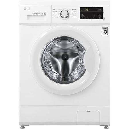 LG F4MT08W 8kg 1400rpm Direct Drive Freestanding Washing Machine 6Motion & Smart Diagnosis - White