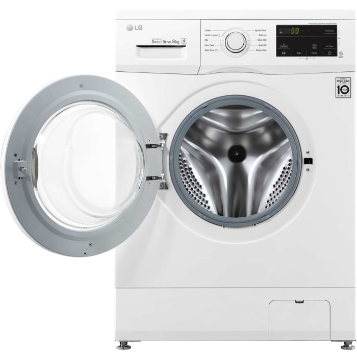 LG F4MT08W 8kg 1400rpm Direct Drive Freestanding Washing Machine 6Motion &  Smart Diagnosis - White | Appliances Direct