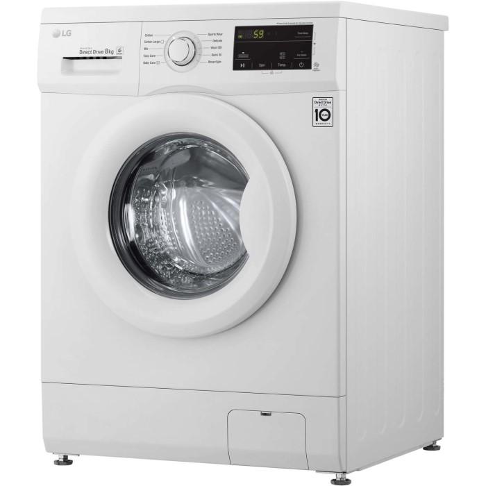 LG F4MT08W 8kg 1400rpm Direct Drive Freestanding Washing Machine 6Motion &  Smart Diagnosis - White | Appliances Direct