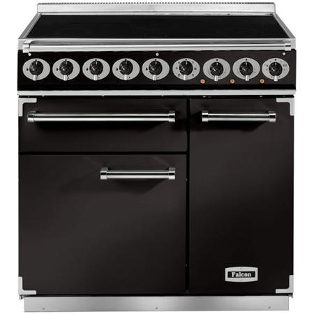 Falcon 81810 - 900 Deluxe Induction 90cm Electric Range Cooker - Black And Brass