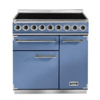 Falcon 81850 - 900 Deluxe Induction 90cm Electric Range Cooker - China Blue And Nickel