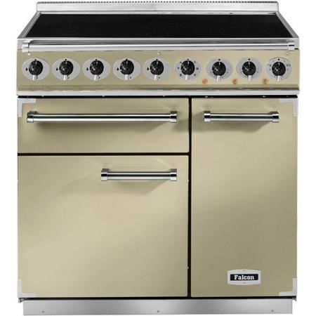 Falcon 81820 - 900 Deluxe Induction 90cm Electric Range Cooker - Cream And Chrome