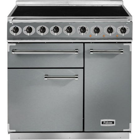 Falcon 81390 - 900 Deluxe Induction 90cm Electric Range Cooker - Stainless Steel And Chrome