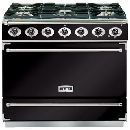 Falcon F900SDFBLCM-EU Dividable Single Oven 90cm Dual Fuel Range Cooker - Black