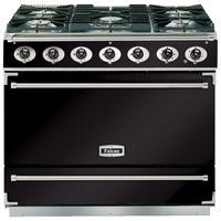Falcon 87380 - 900S Dividable Single Oven 90cm Dual Fuel Range Cooker - Black And Chrome - Matt Stands