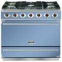 Falcon 87440 - 900S Dividable Single Oven 90cm Dual Fuel Range Cooker - China Blue And Brushed Chrome - Matt Stands