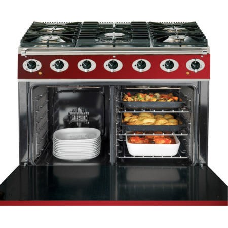 Falcon 87370 - 900S Dividable Single Oven 90cm Dual Fuel Range Cooker - Black And Chrome -Gloss Stands