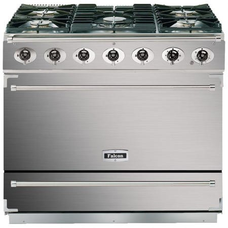 Falcon 87420 - 900S Dividable Single Oven 90cm Dual Fuel Range Cooker - Stainless Steel And Chrome - Matt Stands