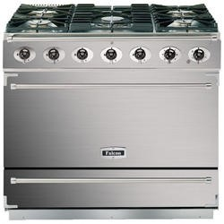 Falcon 87410 - 900S Dividable Single Oven 90cm Dual Fuel Range Cooker - Stainless Steel And Chrome - Gloss Stands