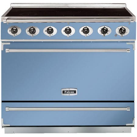Falcon 90050 - 900S Dividable Single Oven 90cm Electric Range Cooker - China Blue And Brushed Chrome