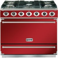 Falcon 90070 - 900S Dividable Single Oven 90cm Electric Range Cooker - Cherry Red And Brushed Chrome