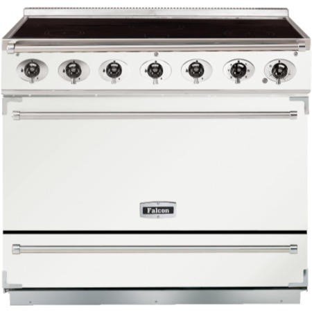 Falcon 90060 - 900S Dividable Single Oven 90cm Electric Range Cooker - White And Brushed Chrome