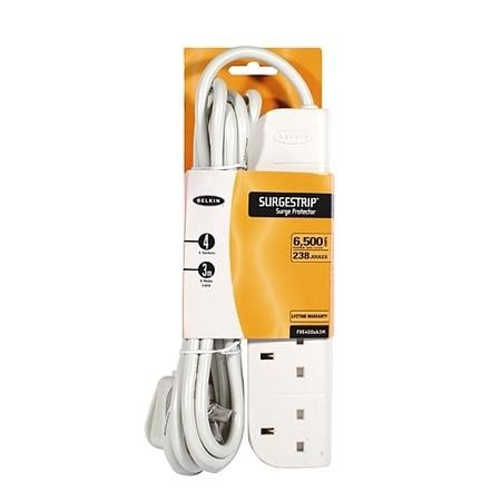 Belkin E-Series 4 Socket 3 Meter SurgeStrip Extension Cable