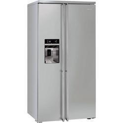 smeg fa63x side by side fridge freezer fully clad in stainless steel appliances direct. Black Bedroom Furniture Sets. Home Design Ideas