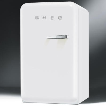 Smeg FAB10HLB 55cm Wide Retro Style Left Hinge Freestanding Larder Fridge - White