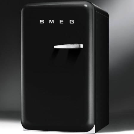Smeg FAB10HLNE 55cm Wide Retro Style Left Hinge Freestanding Fridge - Black