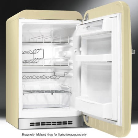 Smeg FAB10HLP 55cm Wide Retro Style Left Hinge Freestanding Fridge - Cream