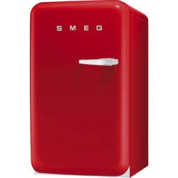 Smeg FAB10LR Retro Style Left Hand Hinge Freestanding Fridge With Ice Box - Red