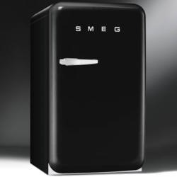 Smeg FAB10HRNE Retro Style Home Bar Freestanding Fridge - Black - Right Hand Hinge