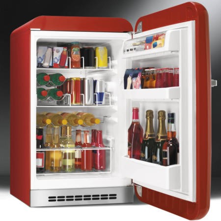 Smeg FAB10HRR Retro Style Home Bar Freestanding Fridge - Red - Right Hand Hinge
