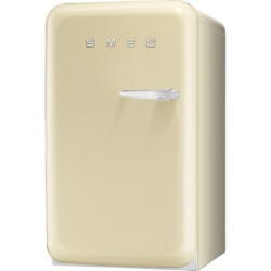 Smeg FAB10LP Cream 50s Style Left Hand Hinge Fridge With Ice Box