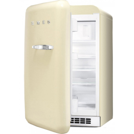 Smeg FAB10LP 55cm Wide Retro Style Left Hinge Freestanding Fridge - Cream