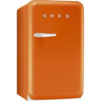 Smeg FAB10RO Fifties Style Fridge With Ice Box - Right Hand Hinge - Orange