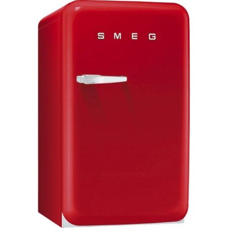 Smeg FAB10RR Retro Style Freestanding Fridge With Ice Box - Right Hand Hinge - Red