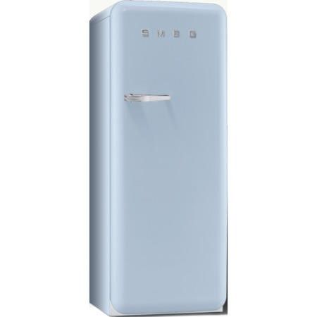 Smeg FAB28QAZ1 60cm Wide Retro Style Right Hinge Freestanding Fridge - Pastel Blue
