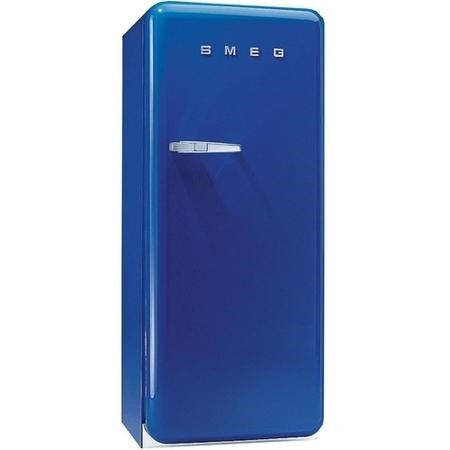 Smeg FAB28QBL1 60cm Wide Retro Style Right Hinge Freestanding Fridge - Blue