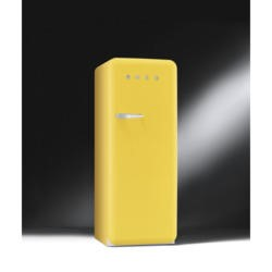 Smeg FAB28QG1 Retro Style Fridge with Ice Box - Right Hand Hinge - Yellow