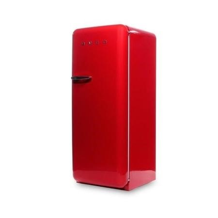 Smeg FAB28QR1 60cm Wide Retro Style Right Hinge Freestanding Fridge - Red
