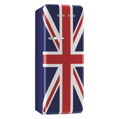 Smeg FAB28QUJ1 60cm Wide Retro Style Right Hinge Freestanding Fridge - Union Jack