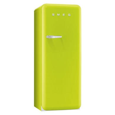 Smeg FAB28QVE1 50s Style Lime Green Right Hand Hinge Freestanding Fridge with Ice Box