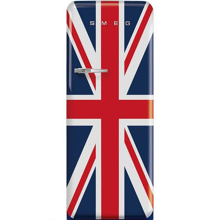 Smeg FAB28RDUJ3UK Fifities Style Right Hand Hinge Freestanding Fridge With Ice Box - Union Jack