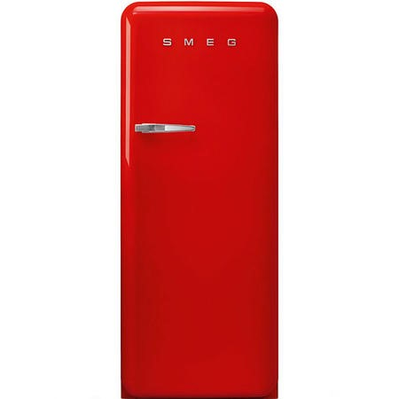 Smeg FAB28RRD3UK Fifities Style Right Hand Hinge Freestanding Fridge With Ice Box - Red