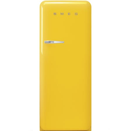 Smeg FAB28RYW3UK Fifities Style Right Hand Hinge Freestanding Fridge With Ice Box - Yellow