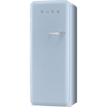 Smeg FAB28YAZ1 60cm Wide Retro Style Left Hinge Freestanding Fridge - Pastel Blue