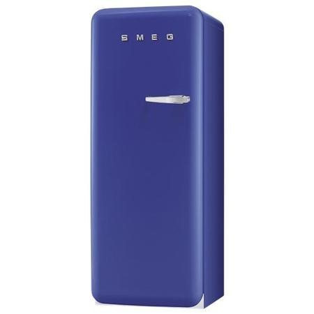 Smeg FAB28YBL1 60cm Wide Retro Style Left Hinge Freestanding Fridge - Blue