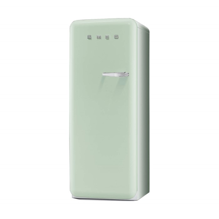 Smeg Fab28yv1 60cm Wide Retro Style Left Hinge Freestanding Fridge