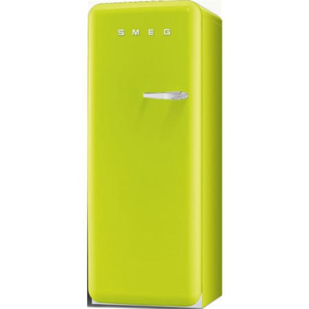 Smeg FAB28YVE1 60cm Wide Retro Style Left Hinge Freestanding Fridge - Lime Green