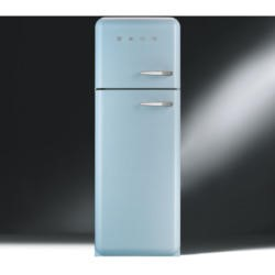 Smeg FAB30LFA Fifties Style Left Hand Hinge Top Mount Freestanding Fridge Freezer - Pastel Blue