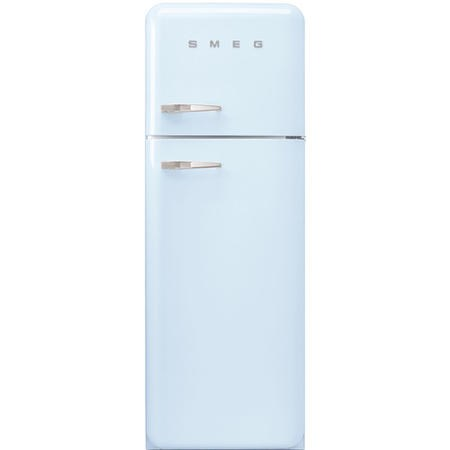 GRADE A2 - Smeg FAB30RFA Fifties Style Right Hand Hinge Top Mount Freestanding Fridge Freezer - Pastel Blue