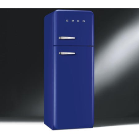 Smeg FAB30RFB Fifties Style Right Hand Hinge Top Mount Freestanding Fridge Freezer - Blue